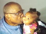 Rev. James Lowder and his Great Great Granddaughter Niviya Pierson (daughter of Britney Davis and granddaughter of Miria